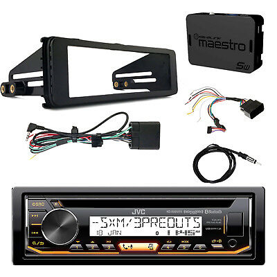 KDR99MBS CD Radio, SiriusXM Tuner, iDataLink Wire Kit, Harley Dash Kit, Antenna