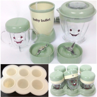 Magic Baby Bullet Food Making System Freezer Storage Batch Tray Cups