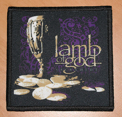"LAMB OF GOD ""SACRAMENT"" silk screen PATCH"