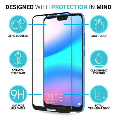 For Huawei P20 Pro/Plus/Lite Full Cover Tempered Glass Film Screen Protector NEW