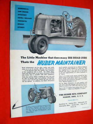 Huber Roller Maintainer Brochure 1930 Marion OH