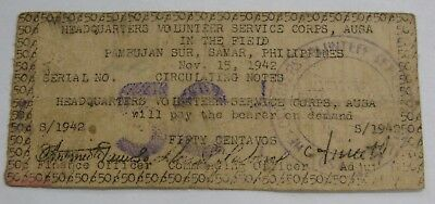 Philippines PAMBUJAN SUR - 1942 - 50 Centavos WWII Guerrilla Currency SMR-634