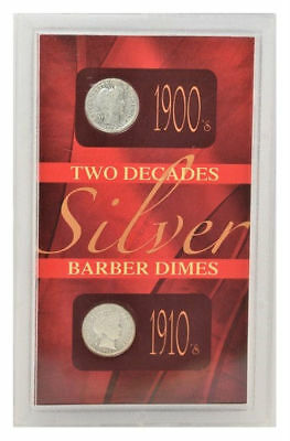 U.S. Mint Two Decades  Silver Barber Dimes 1900,S to 1910,S