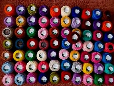 Cross stitch/Embroidery 71 reels Assorted colours New & Labelled By Anchor no8