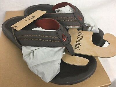 721b6ddc66741 New Olukai Hokua Flip Flop Sandal Mens Dark Java Leather 9-13 Free Ship