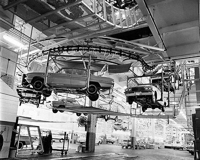 1961 Buick Special on Factory Assembly Line Factory Photo cb0240