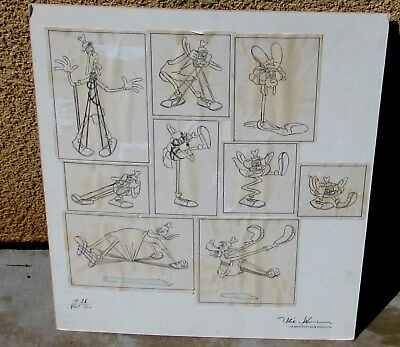 OLLIE JOHNSTON, Disney Animator, 12 Process Boards for Visual Gags, estate stamp