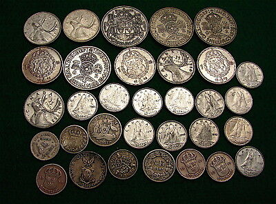 World Coin lot All with Silver Content-----32 Coins with Silver Content