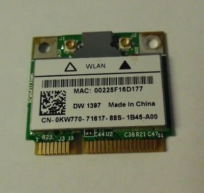 DELL INSPIRON 1428 NOTEBOOK 1397 HALF MINICARD WLAN DRIVERS FOR PC