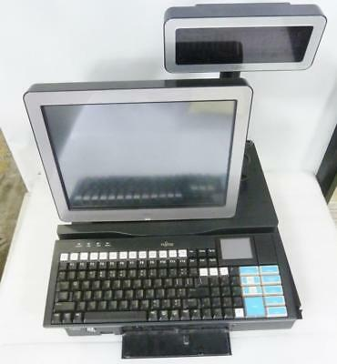 Fujitsu 3000 POS TeamPOS Complete System Monitor and Pole Display