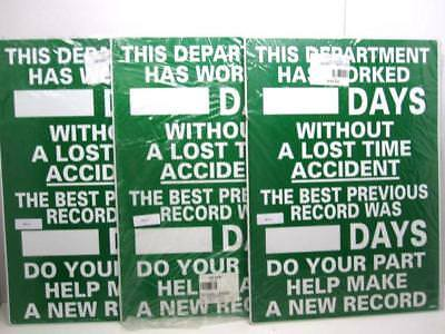 "Lot Of 3 NMC WS-1 ""This Department Has Worked"" 28 x 20"" Aluminum Scoreboards NEW"
