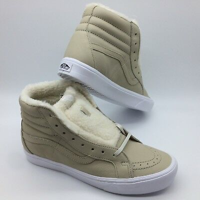 d2f64f5f70 VANS SK8-HI LITE Sherpa Black True White Men s Skate Shoes s85138 ...