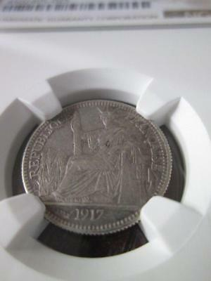 French Indochina 10 Cents 1917A NGC AU 55