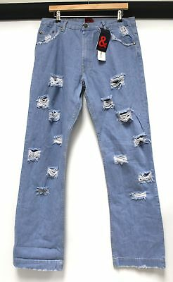 "D&G DOLCE & GABBANA '& Range' Ripped Distressed Jeans Size 36"" / IT 50  - N13"