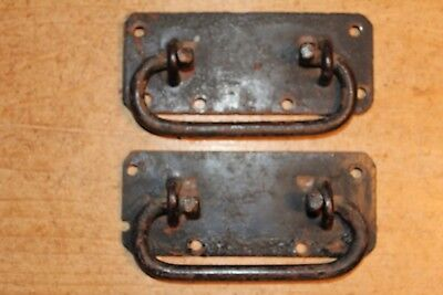 Pair of Antique Handles Iron for Old Pine/Oak Blanket Box/Chest/Trunk/Coffer~