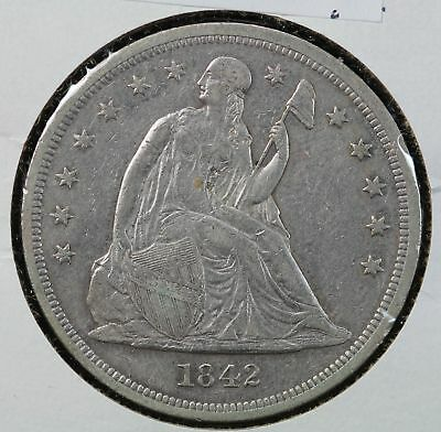 1842 Seated Liberty Silver Dollar