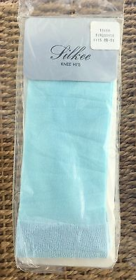 Silkee Light Turquoise Knee Highs/Tights, Nylon with Lycra, One Size, BNWT