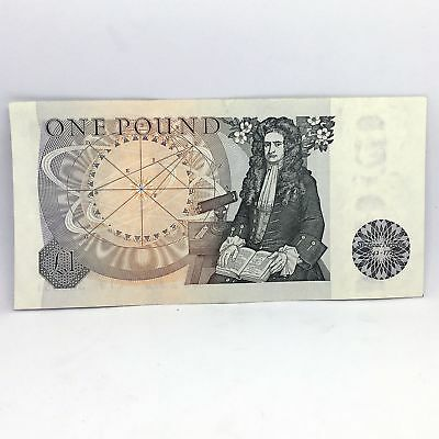 Great Britain 1 Pound Issac Newton Note J.B. Page 1978-1982