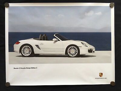 PORSCHE DESIGN EDITION 2 BOXSTER S LIMITED EDITION (PDE 2) SHOWROOM POSTER 2009c
