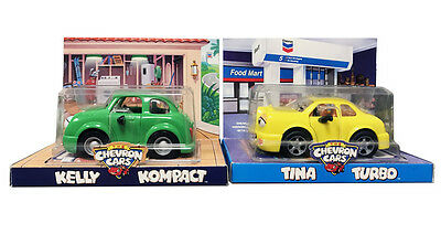 The Chevron Cars Tina Turbo & The Chevron Cars Kelly Kompact Toy Car Set
