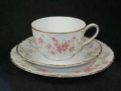 Vintage China Trio LORENZ HUTSCHENREUTHER of SELB Germany 1939-64 Pink Rose