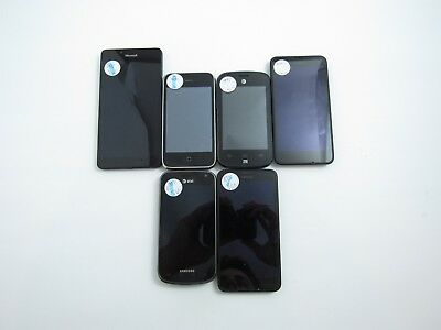 Lot of 6 Assorted AT&T Check IMEI Good Condition 4-107
