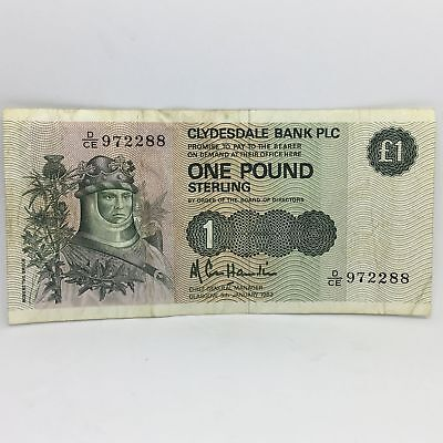 Scotland, One (1) Pound Sterling Clydesdale Bank PLC - NICE!