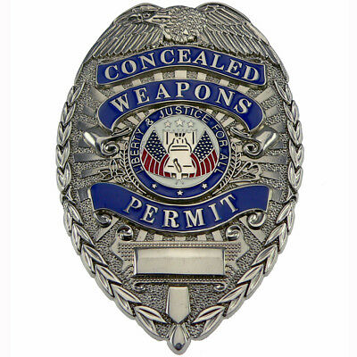 Rothco Concealed Weapons Permit Shield Badge Silver