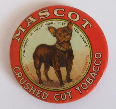 Vintage MASCOT CRUSHED CUT TOBACCO Advertising Mirror