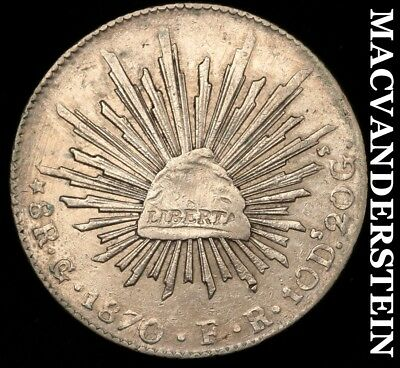 MEXICO: 1870-Go;FR EIGHT REALES - ALMOST UNCIRCULATED!!  BETTER DATE!!  #Y7362