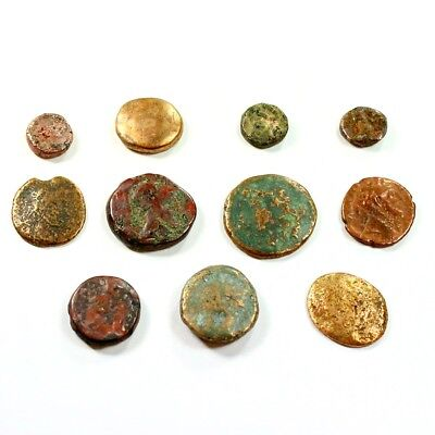 Lot of 11 Ancient Greek Bronze Nummis c.450 BC - 100 AD Exact Coins Shown rm2259