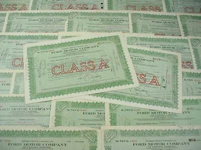 NobleSpirit NO RESERVE {3970}Coll of Ford Motor Co Canada Stock Certs, 1929