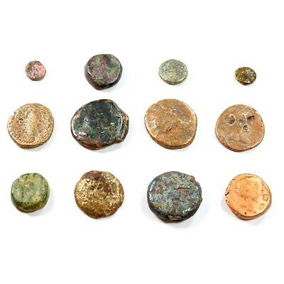 Lot of 12 Ancient Greek Bronze Nummis c.450 BC - 100 AD Exact Coins Shown rm2258