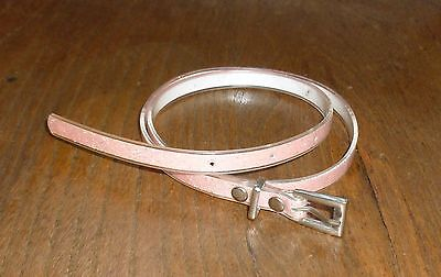 "Iridescent Peach Pink SKINNY Glitter BELT Wear at Waist 19""-23"" Girl size XS - 7"