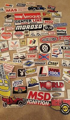 Lot of 75+ Car Drag Racing Decals  MSD, Autometer