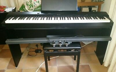 Casio electric digital piano px-160 stool headphones pedals books VGC Pickup ACT