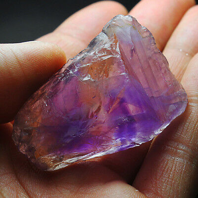 121.2CT 100% Natural Purple & Yellow Ametrine Facet Rough Specimen YAE4619