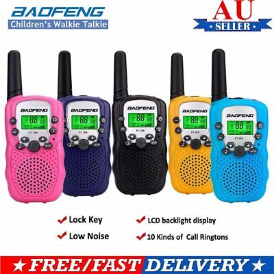 2X Mini Walkie Talkie For Child Kid Toy 3-5km UHF 2 Way Radio Outdoor HN