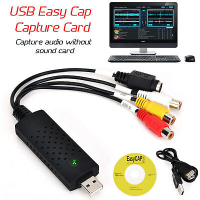 Brand New Usb 2.0 Vhs To Pc Dvd Converter Video & Audio Capture Card/adapter