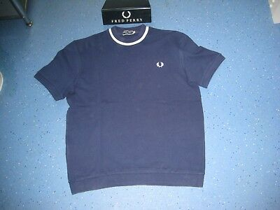 Fred Perry 1960's re-issues crew neck ringer /polo shirt. Mod/Ska/Scooter.