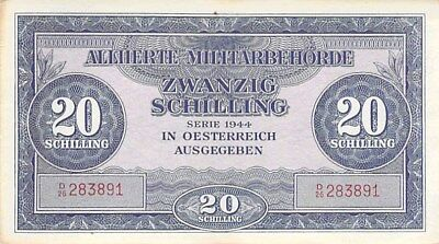 Austria Allied Military Notes 1944 20 Schillings & 50 Schillings