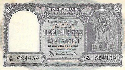 Reserve Bank Of India 10 Rupees Note 1962-67 P-40