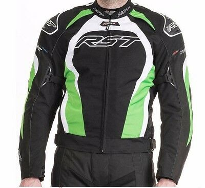 RST 1397 Tractech Evo 2 Textile Waterproof Motorcycle Jacket With Hump GREEN