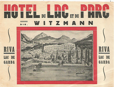 HOTEL LAC DU PARC luggage DECO label (RIVA)