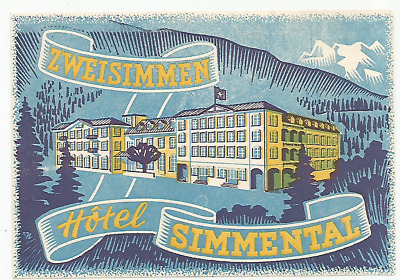 HOTEL SIMMENTAL luggage DECO label (ZWEISIMMEN)