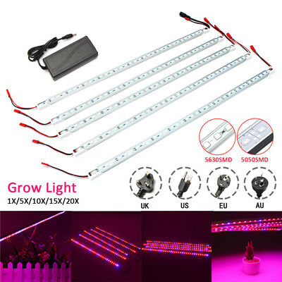 50CM LED Grow Light 5050/5630 36LED Bar Rigid Strip Hydroponic Garden Plant Lamp