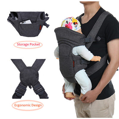 Nice-Looking Breathable Baby Carrier Adjustable Wrap Sling Straps Light Weight