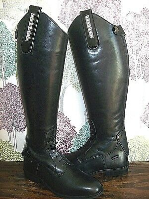 Riding Boot & Tack Clips*PATENT Leather & CLEAR Crystals*Dressage*Black or Brown