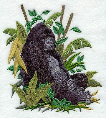 Large Embroidered Zippered Tote - Mountain Gorilla C8178