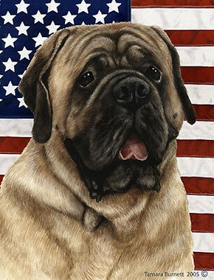 Large Indoor/Outdoor Patriotic II Flag - Fawn Mastiff 32113